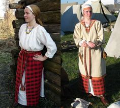 Medieval Slavic costume of Ancient Russia: Krivichi