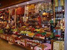Italian market, Sorrento, Italy