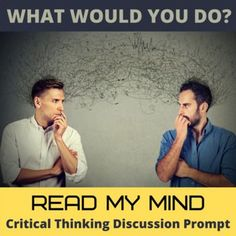 Get students thinking and talking with this single creative hypothetical What Would You Do? hypothetical situation. This flexible and adaptable ESL/EFL or social studies activity generates conversation, engages students, and engenders perspective-taking and problem-solving. *What if you suddenly gained the power to read minds? How would you use your newfound power? Would you try to manipulate people around you or try to improve yourself? Learning English would be a heck of a lot more easier.