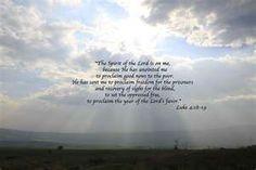 Luke 4;18-19