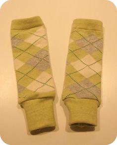 20 Eco or recycled fashion item  DIY babylegs. (turn socks into leg warmers)  #ByNature.ca #Pin2Inspire