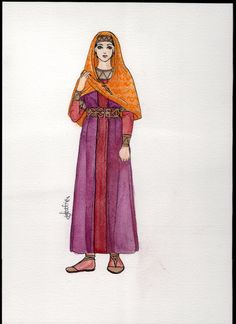 Inspired by the Merovingian Queen Arnegonde.  MelaAmara