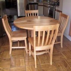This round table is perfect for a small space in the kitchen! 60 Inch Round Table, Round Tables, Dining Chairs, Dining Table, Custom Furniture, Outdoor Furniture, Outdoor Decor, Small Spaces, Rustic