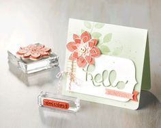 We love this card made with the Stampin Up Crazy About You stamp set and the coordinating Hello You Thinlits. Crazy About You, Card Maker, Card Sketches, Card Tags, Flower Cards, Clear Stamps, Greeting Cards Handmade, Homemade Cards, Stampin Up Cards