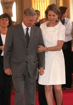 Crown Prince Philippe and Mathilde of Belgium