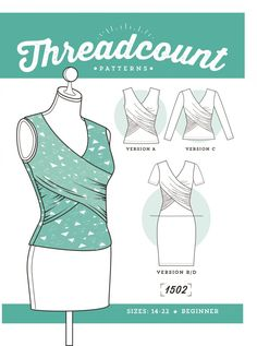 FREE DOWNLOAD - Threadcount Wrap Dress and Top in Size 6 to 14  Wickelkleid oder wickelshirt