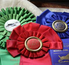 Vintage dog show ribbons could be awesome on display!