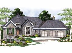 Eplans French Country House Plan - European Charm With Amenities Galore - 3012 Square Feet and 2 Bedrooms from Eplans - House Plan Code HWEPL05915