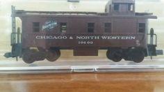 atlas n-scale chicago & Northwestern caboose #3571 #Atlas