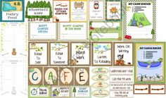 HUGE CAMPING THEME PACK from The Teachers Chatterbox on TeachersNotebook.com (72 pages)  - THIS CAMPING THEME PACK HAS IT ALL:  desk plates, name tags, clip chart, behavior log, Daily 5, CAFE, interactive notebook, morning meeting chants, posters, helpers, newsletters, worksheets, and blank pages.