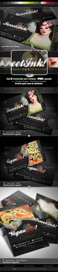 PSD Sweet Ink - Business Card Set  Template • Only available here ➝ http://graphicriver.net/item/sweet-ink-business-card-set/252855?ref=pxcr