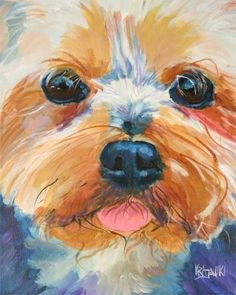 Yorkshire+Terrier+Art+Print+of+Original+Acrylic+