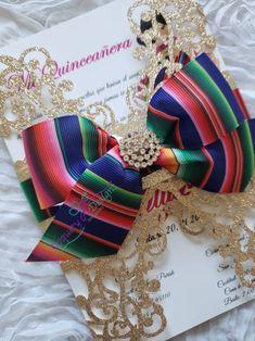 Mexican theme invitation zarape/ | Etsy Mexican Wedding Invitations, Quince Invitations, Birthday Invitations, Invites, Mexican Party Decorations, Party Themes, Party Ideas, Quinceanera Party, Wedding Goals