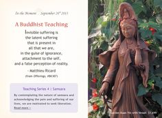 """Buddhist Teaching from Matthieu Ricard. From """"Offerings,"""" item BK307, dharmacrafts.com. #dharmacrafts"""