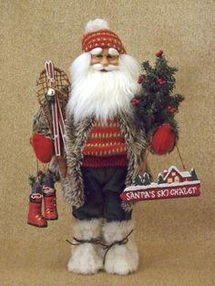 Karen Didion Lighted Blitzen Tree Santa
