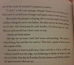Agh. Internally implodes. It's my favourite scene in the book.