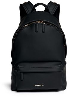 Givenchy Rubberised Leather Backpack as seen on Lily Aldridge Givenchy Backpack, Givenchy Handbags, Black Leather Backpack, Black Leather Bags, Leather Backpacks, Real Leather, Rucksack Bag, Backpack Purse, Backpack Handbags