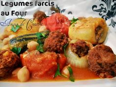 Dolma, legumes farcis a la viande hachee au four