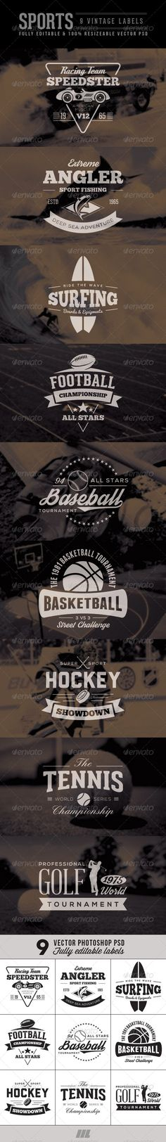 Vintage Sports Badge & Label Template | Buy and Download: http://graphicriver.net/item/vintage-sports-badge-label/7333802?WT.ac=category_thumb&WT.z_author=mengloong&ref=ksioks
