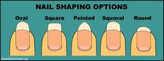 Nail shaping options