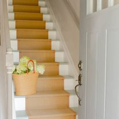 If you've been following along with my staircase makeover, then make sure you stop by tomorrow to learn how to order and install a kid and pet-friendly runner from @sisalrugsdirect! #diy #paintedstairs #staircase #homemakeover #cottagestyle #coastaldecor #cottagedecor