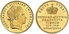 Ferdinand I (1803-1884), Austria, Medal, 1836, Ducat, for his homage in the Archduchy of Austria.