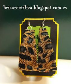 ecobrisa: Pendientes leopardo