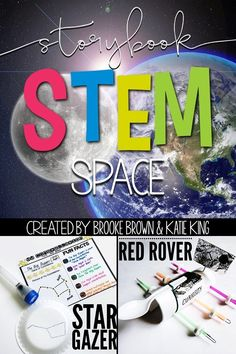 Space STEM Challenges, Language Arts Components, and Science Activities to match favorite picture books | Elementary STEM Activities