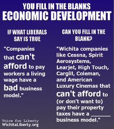 Fill in the blanks on economic development.