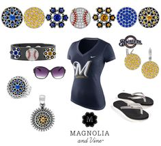 Hey Milwaukee Brewer and Magnolia & Vine Fans... Get your Magnolia & Vine jewelry, accessories and interchangeable snaps on to support your Brewers at http://www.MyMagnoliaAndVine.com/335