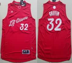 31702b3ac NBA Los Angeles Clippers 32 Blake Griffin Red Christmas Day Xmas Basketball  Jerseys