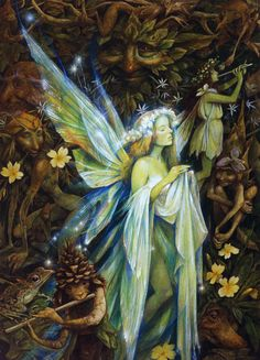 "megarah-moon: "" ""Gwenhwyfar"" by Brian Froud She is the white shadow, dancing by moonlight to the faery piper's tune, leaving tiny white star flowers to glow where her feet have trod. She dreams that..."