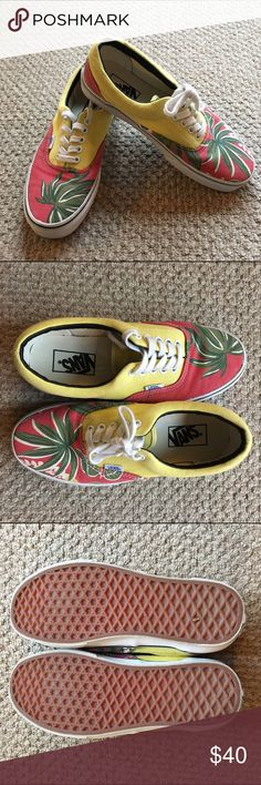 Vans ERA with Hawaiian print, size 8 Vans ERA with Hawaiian print, size 8.  Worn probable less than 10 times.  Comes from a smoke/pet free home.  Final sale and questions are welcome.  Will ship in original box. Vans Shoes Sneakers