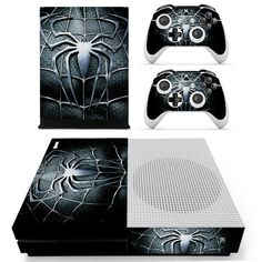 Avengers Spiderman Skin Sticker Decal For Xbox One S Console And Kinect And 2 Controllers For Xbox One Slim Skin Sticker Vinyl Best Superhero, Superhero Design, Overwatch Xbox, Xbox One Console, Black Spider, Xbox One S, Mens Suits, Spiderman, Decals