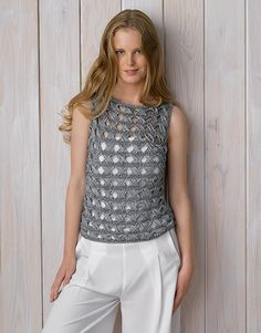 Book Woman Chic 89 Spring / Summer | 2: Woman Top | Light grey-Silver