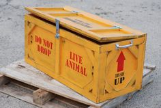 Toy box crate furniture animal crates by KingstonCreations on Etsy, $350.00 + 85$ Shipping.  Made to order. Can choose any colors you want with any wording. Absolutely love it. Maybe when I have my own house?