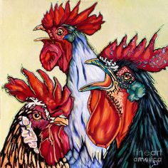 Rooster Painting - Rooster Coffee Glutch by Rose Collins