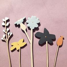 Wooden flowers in the Spring sun - arrange them in your favourite vase for a year round display!  £12 - £16 a stem www.annawiscombe.com