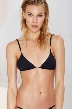 Pin for Later: The 26 Best Black Swimsuits at Every Price  Factory Lézard The Costes Bikini Top ($105)