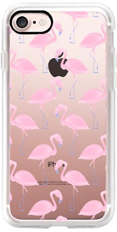 Casetify iPhone 7 Classic Grip Case - Flamingo Pattern by The Dolce Lab  #Casetify