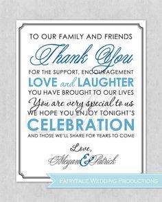 Personalized 8x10 Wedding Thank You Sign ( Elegant Monogram ) - Digital Print on Etsy, $9.20