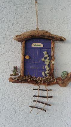 Home Decor ideas &Home Garden & Diy Creative Crafts, Diy And Crafts, Crafts For Kids, Fairy Crafts, Driftwood Crafts, Fairy Garden Houses, Fairy Doors, Camping Crafts, Miniature Fairy Gardens
