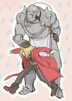 Fan art of Edward Elric (エドワード・エルリック) and Alphonse Elric (アルフォンス・エルリック)  from Full Metal Alchemist ( 鋼の錬金術師) | Credit goes to its original owner
