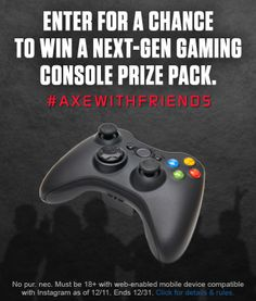 #Giveaways: Enter to #Win #AXEWithFriends Gaming Console Prize Pack #ad #jbbb