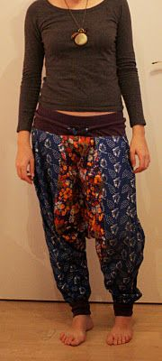 from now till then and in between (or since I started my veterinary studies): harem pants pattern