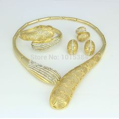 Find More Jewelry Sets Information about Smart Design 18K Gold Plated The Real Cleopatra Jewelry Sets ,Fashion Rhinestone Hollow Out Necklace Earrings Ring Bangle Sets,High Quality necklace bracelet earring,China earrings rings necklaces Suppliers, Cheap earrings costume from YIWU  CZ Jewelry  Co. on Aliexpress.com