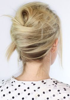 french twist updo with a messy touch                                                                                                                                                                                 Más