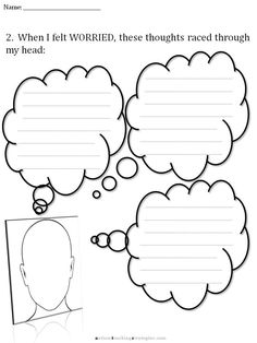 CBT Children's Emotion Worksheet Series: 7 Worksheets for Dealing with Anxiety | AutismTeachingStrategies.com