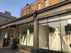 Mirror Mirror Bridal shop - Brides best friend for wedding dresses. Searching for your dream wedding dress? Visit our London boutique to see our extensive designer collection including our own Mirror Mirror couture gowns. Elegant Wedding Dress, Dream Wedding Dresses, Mirror Mirror Bridal, Bridal Boutique, Designer Collection, Window, Display, Bride, Wedding Bride