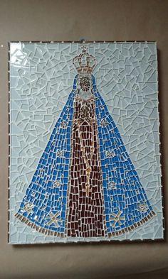 Nossa Senhora Aparecida pastilhas de vidro